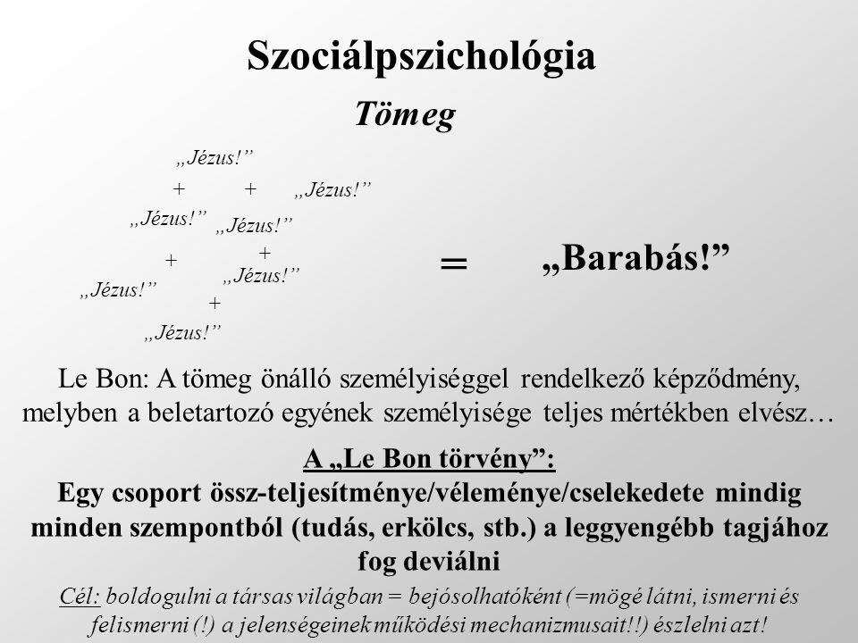 """= Szociálpszichológia """"Barabás! Tömeg"""
