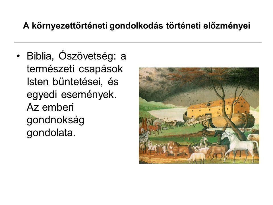 A környezettörténeti gondolkodás történeti előzményei