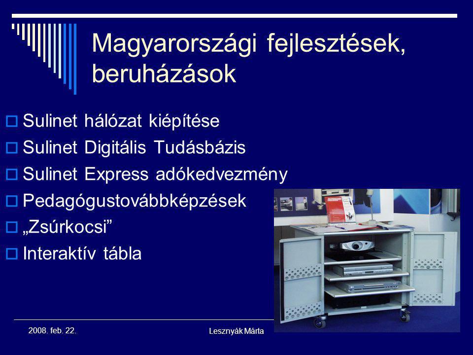 Magyarországi fejlesztések, beruházások