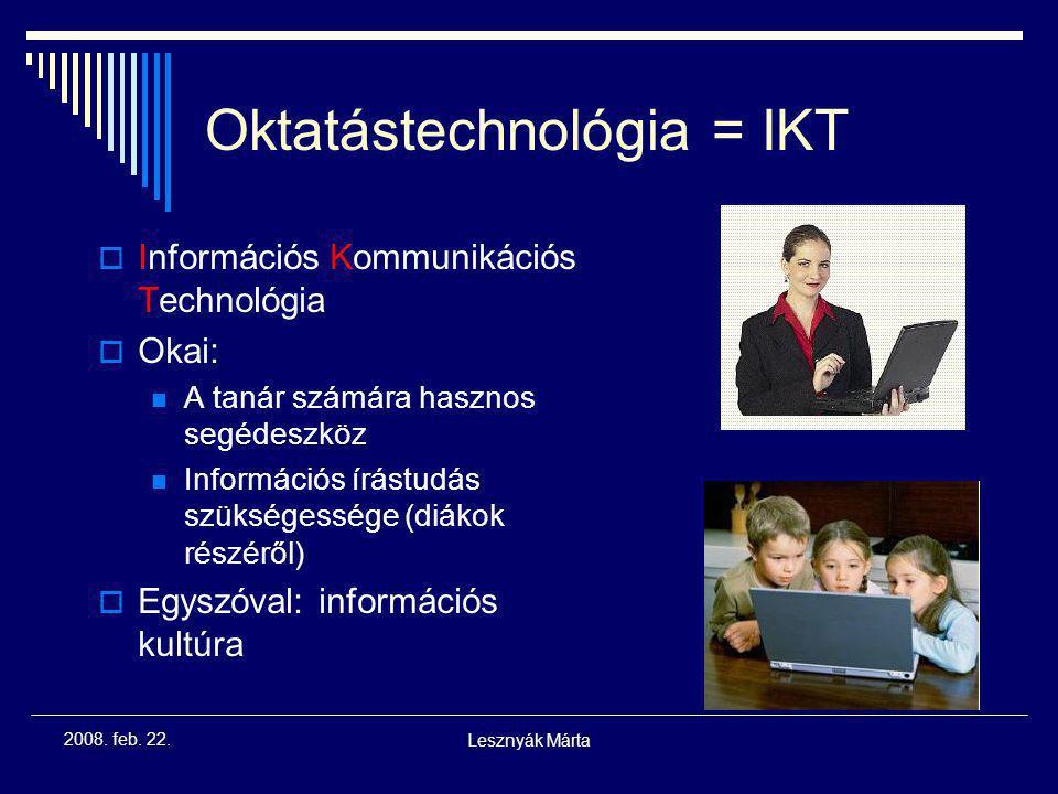 Oktatástechnológia = IKT