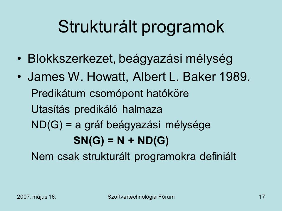 Strukturált programok