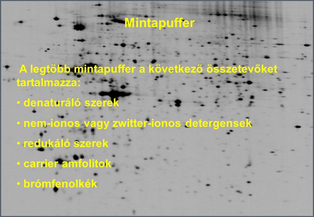 Mintapuffer denaturáló szerek nem-ionos vagy zwitter-ionos detergensek