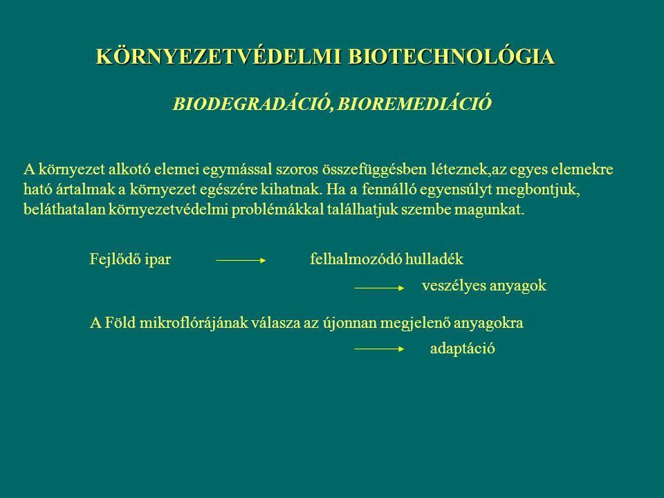 KÖRNYEZETVÉDELMI BIOTECHNOLÓGIA