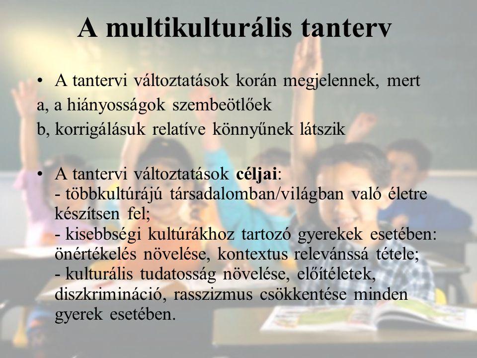 A multikulturális tanterv