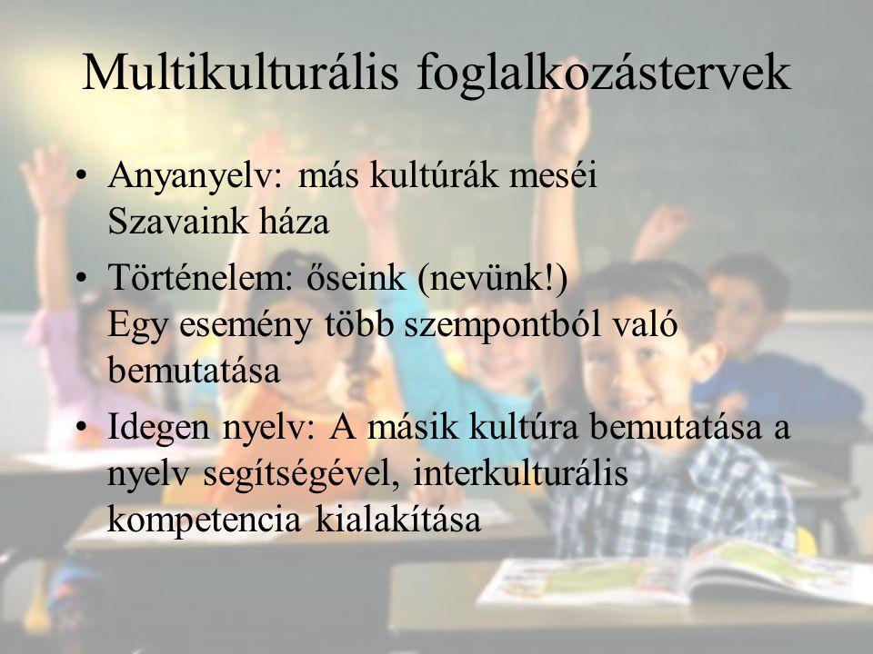 Multikulturális foglalkozástervek