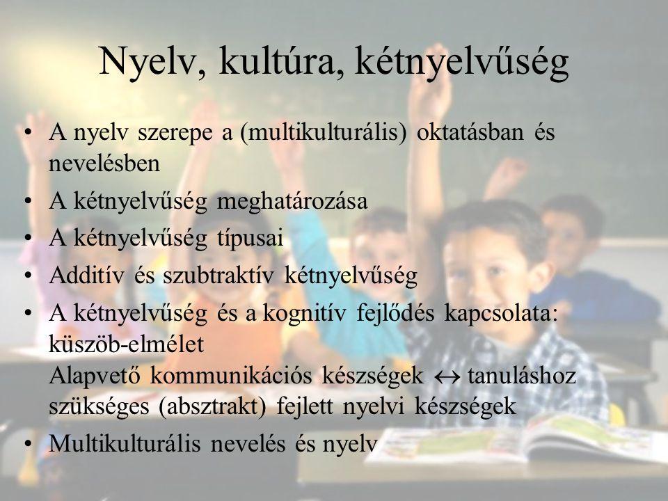 Nyelv, kultúra, kétnyelvűség