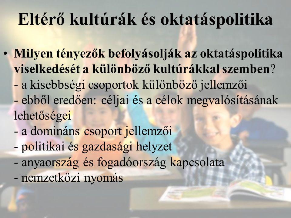 Eltérő kultúrák és oktatáspolitika