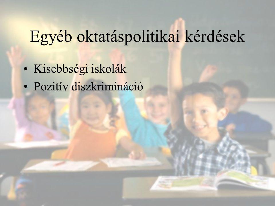 Egyéb oktatáspolitikai kérdések