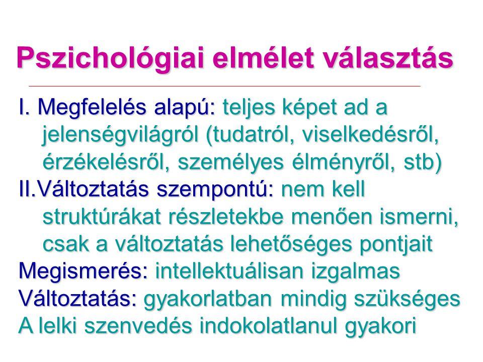 Pszichológiai elmélet választás