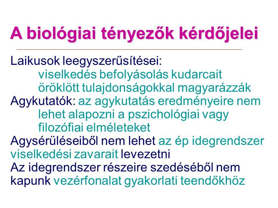 A biológiai tényezők kérdőjelei