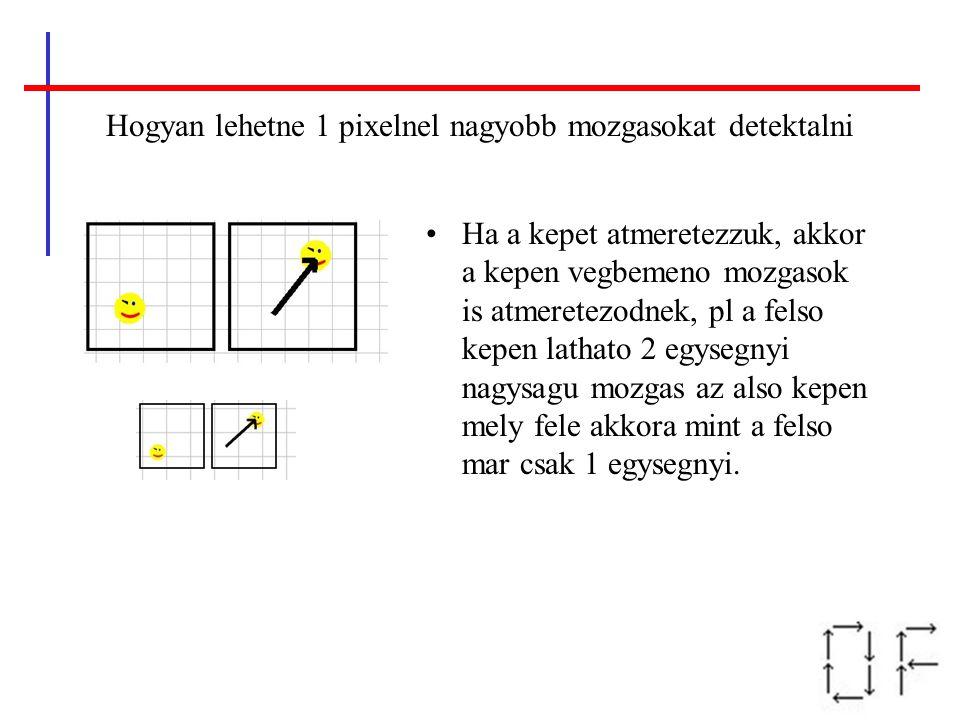 Hogyan lehetne 1 pixelnel nagyobb mozgasokat detektalni