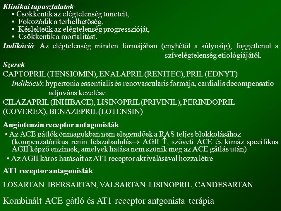 Kombinált ACE gátló és AT1 receptor antgonista terápia