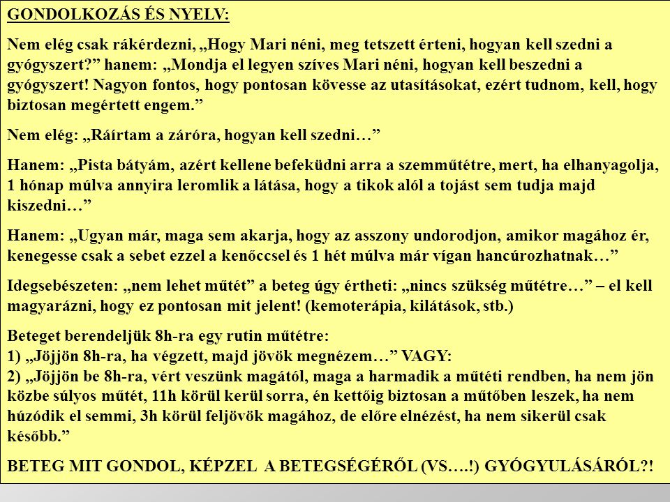 GONDOLKOZÁS ÉS NYELV: