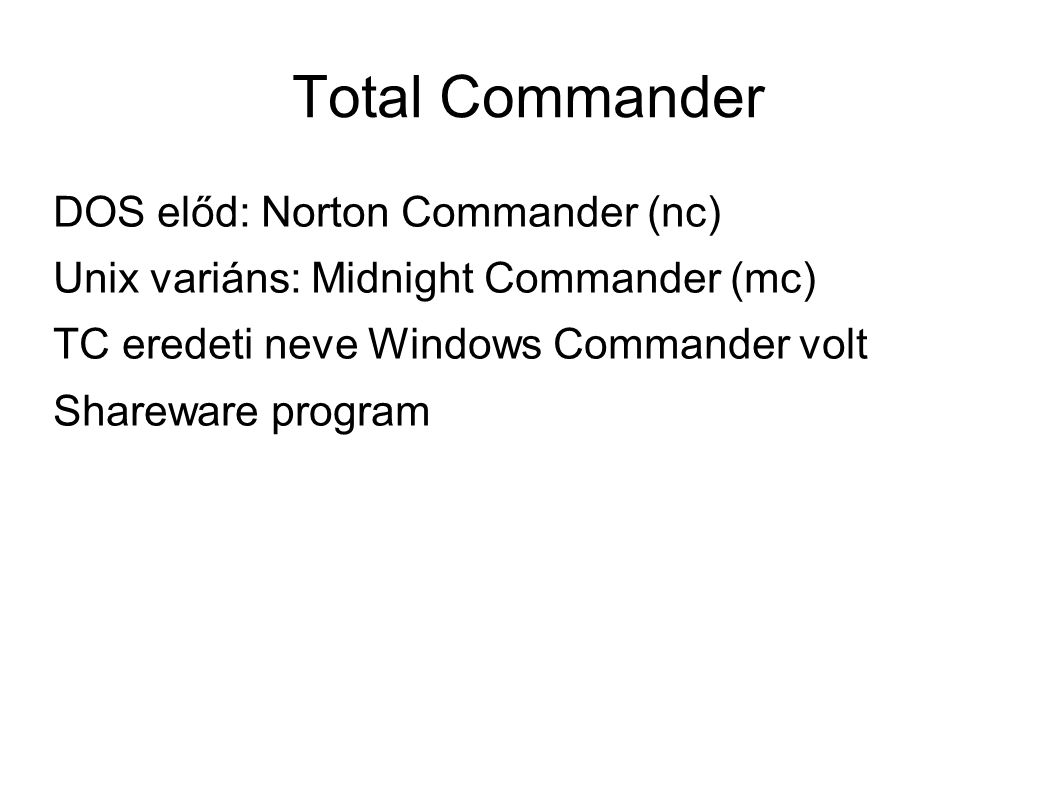 Total Commander DOS előd: Norton Commander (nc)