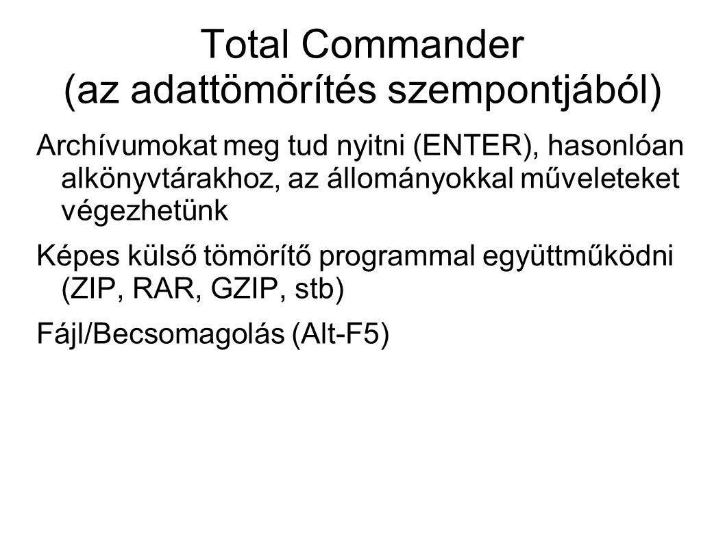 Total Commander (az adattömörítés szempontjából)