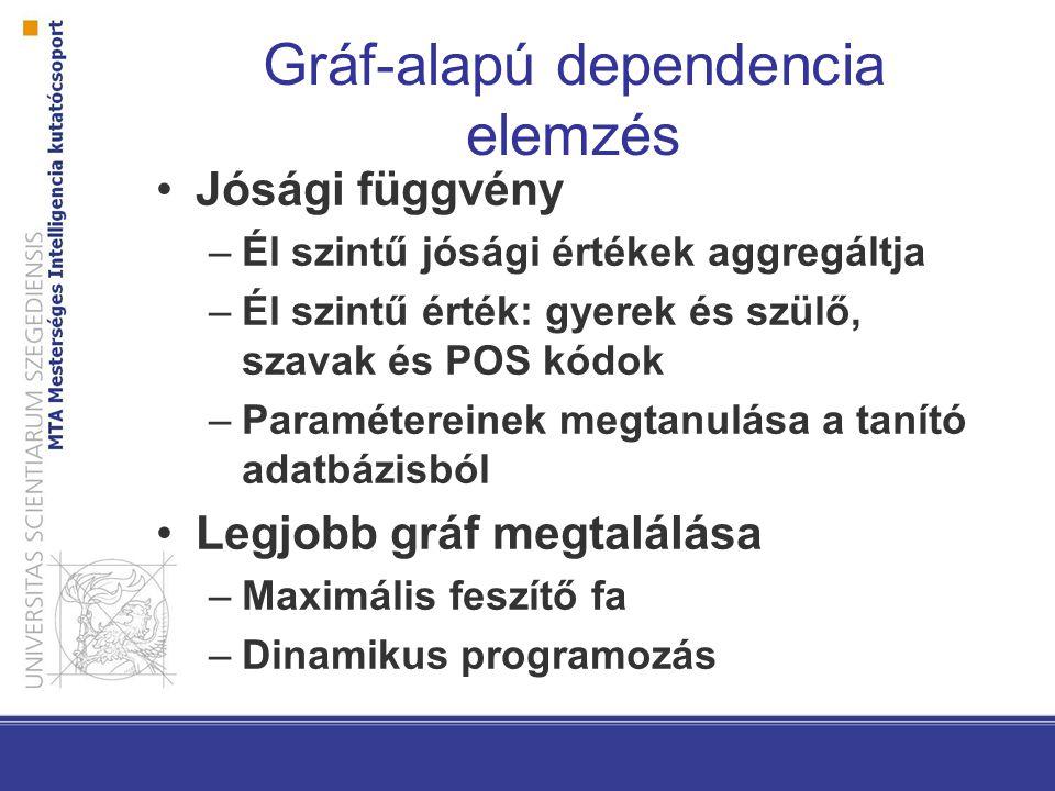 Gráf-alapú dependencia elemzés
