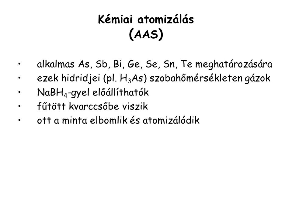 Kémiai atomizálás (AAS)