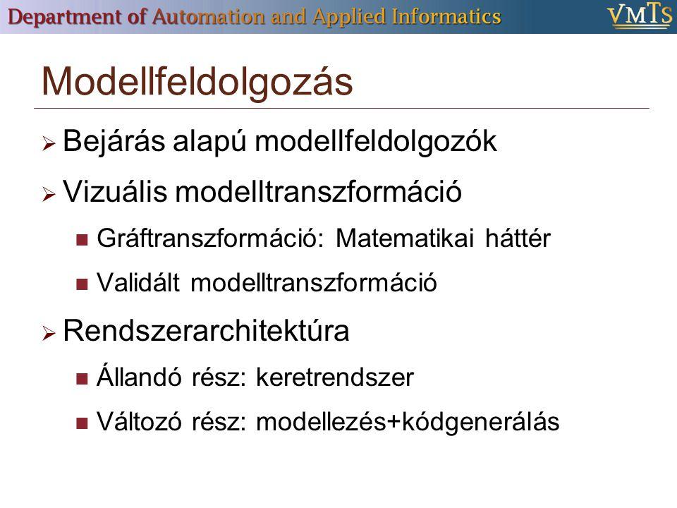 Modellfeldolgozás Bejárás alapú modellfeldolgozók