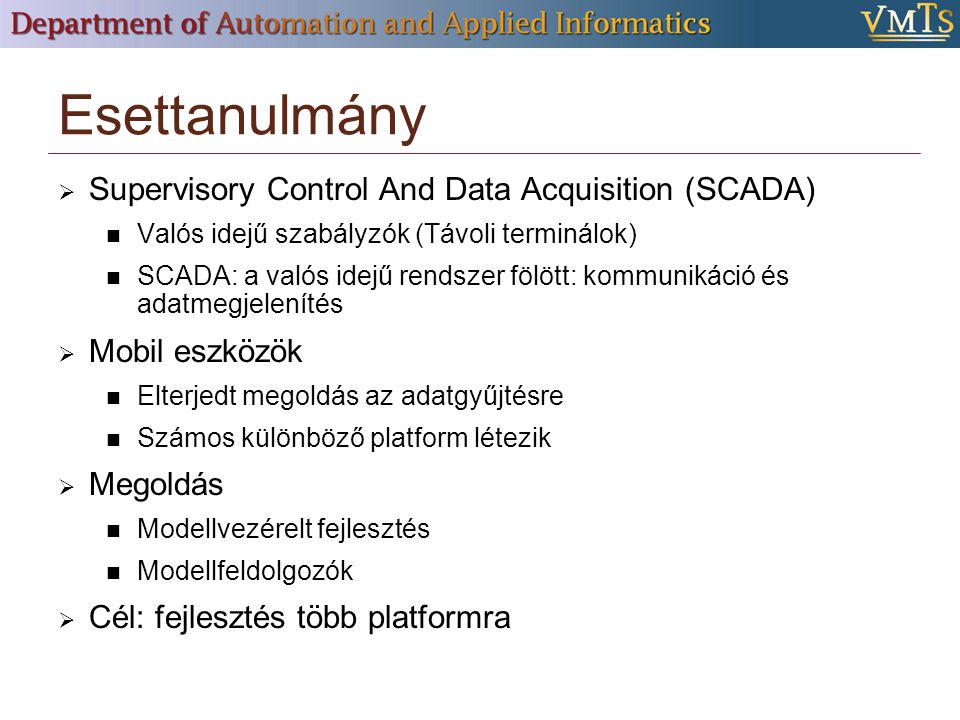 Esettanulmány Supervisory Control And Data Acquisition (SCADA)