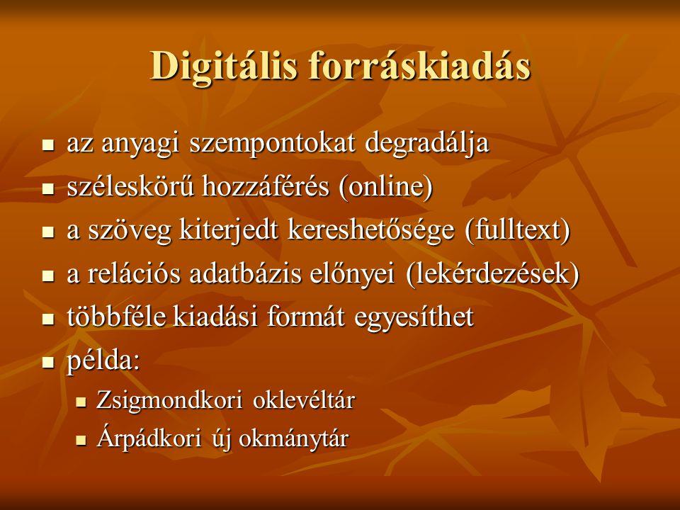 Digitális forráskiadás