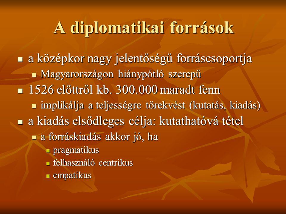 A diplomatikai források