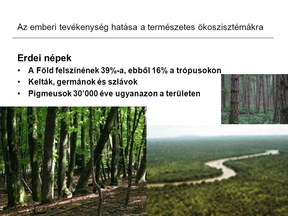 Az emberi tevékenység hatása a természetes ökoszisztémákra