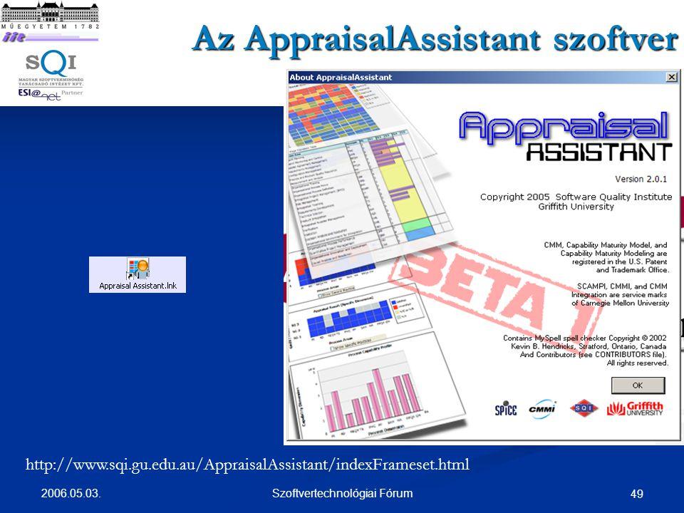 Az AppraisalAssistant szoftver
