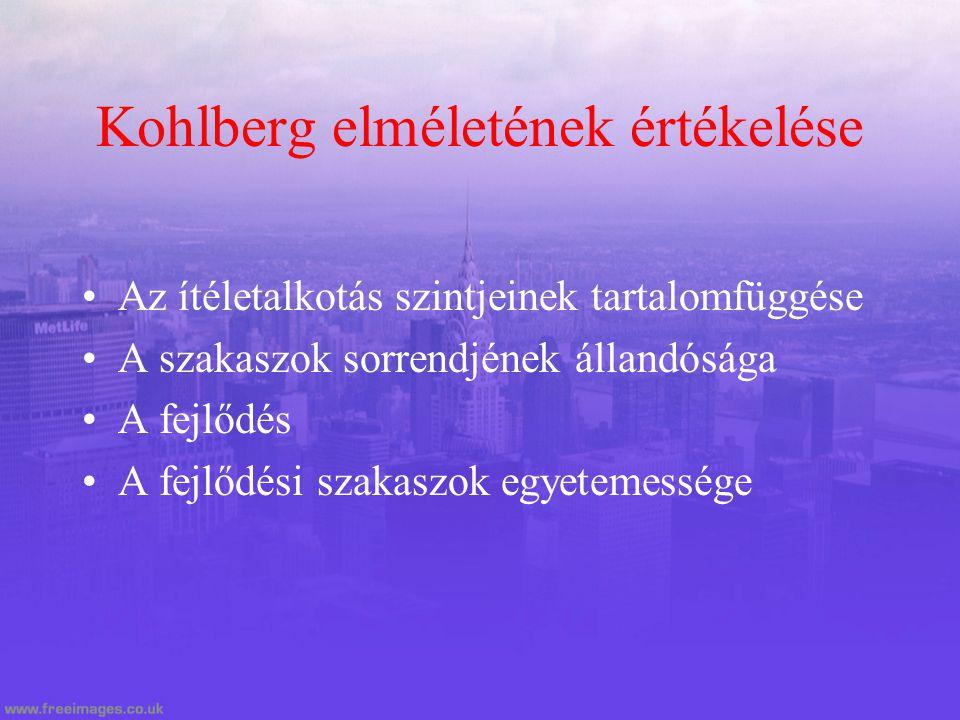 Kohlberg elméletének értékelése
