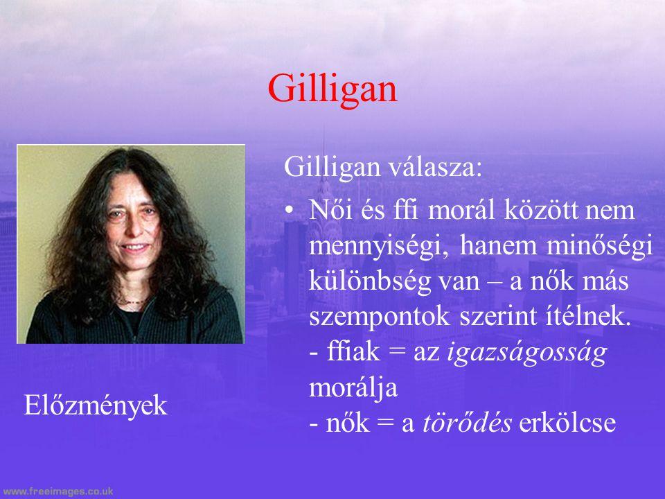 Gilligan Gilligan válasza: