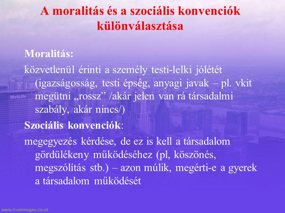 A moralitás és a szociális konvenciók különválasztása