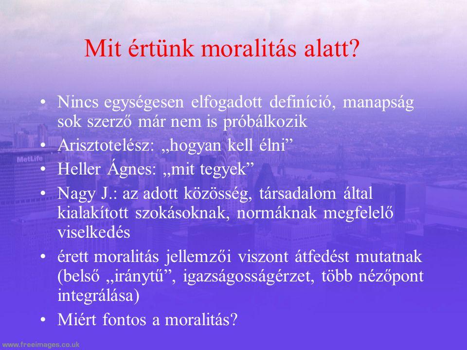 Mit értünk moralitás alatt