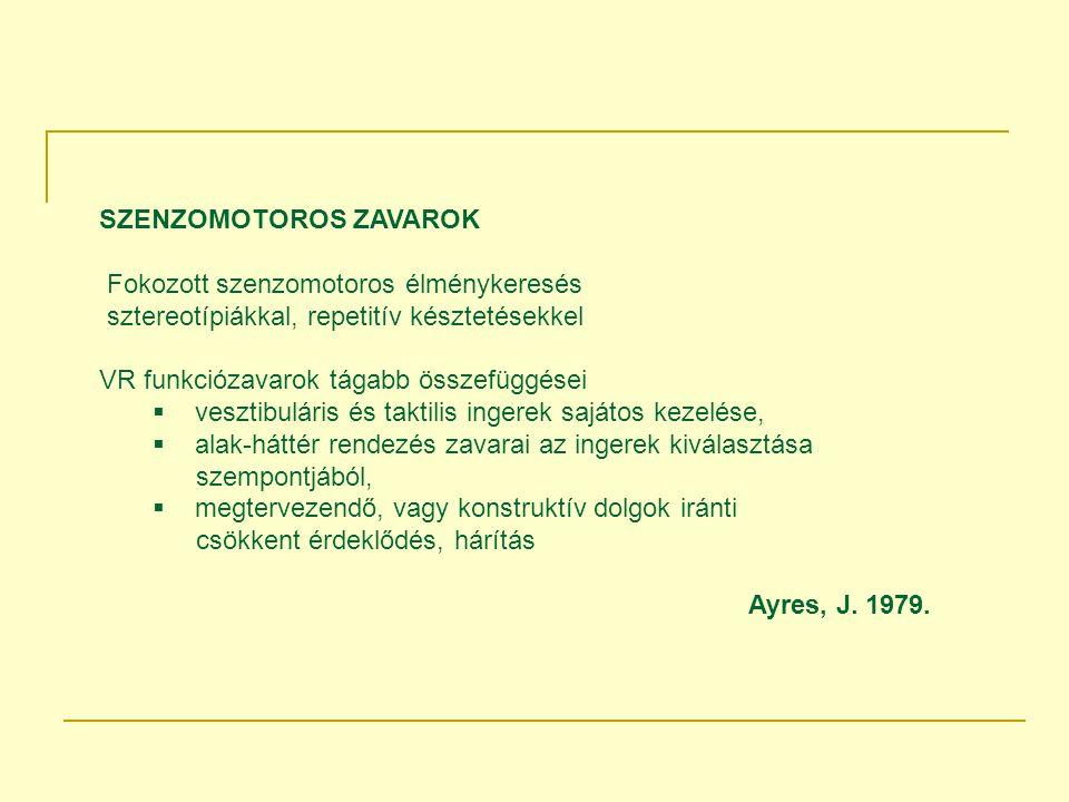 SZENZOMOTOROS ZAVAROK