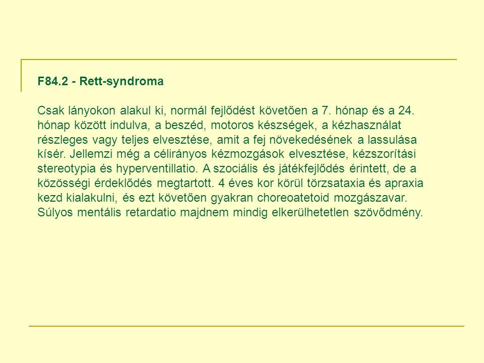 F84.2 - Rett-syndroma