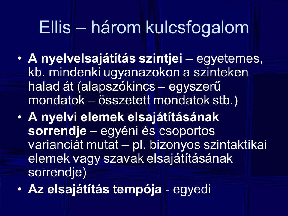 Ellis – három kulcsfogalom