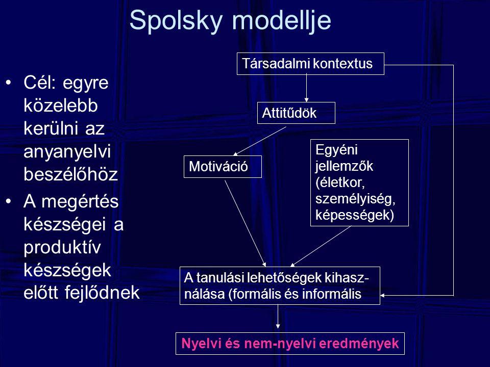 Nyelvi és nem-nyelvi eredmények