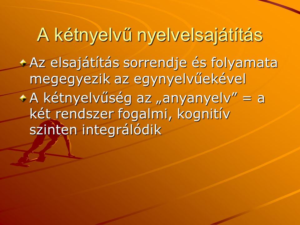 A kétnyelvű nyelvelsajátítás