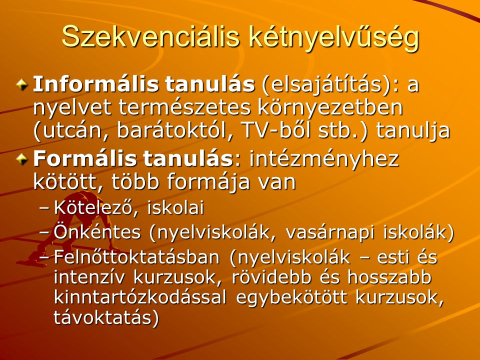 Szekvenciális kétnyelvűség