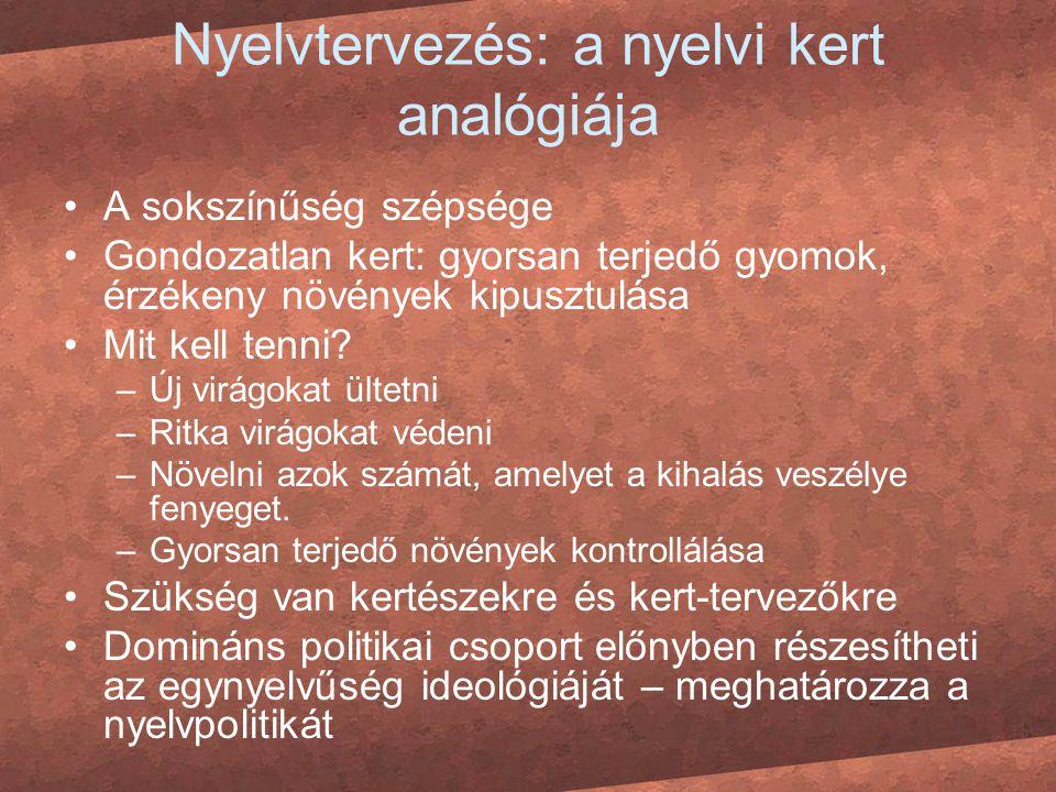 Nyelvtervezés: a nyelvi kert analógiája