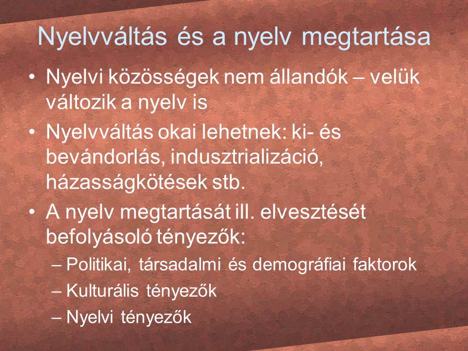 Nyelvváltás és a nyelv megtartása