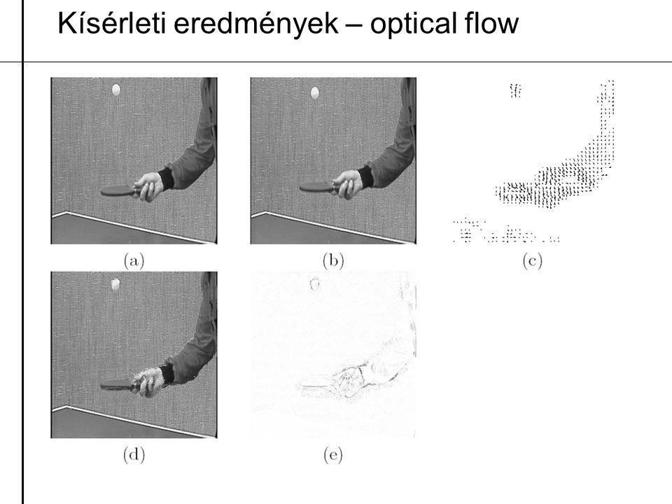 Kísérleti eredmények – optical flow