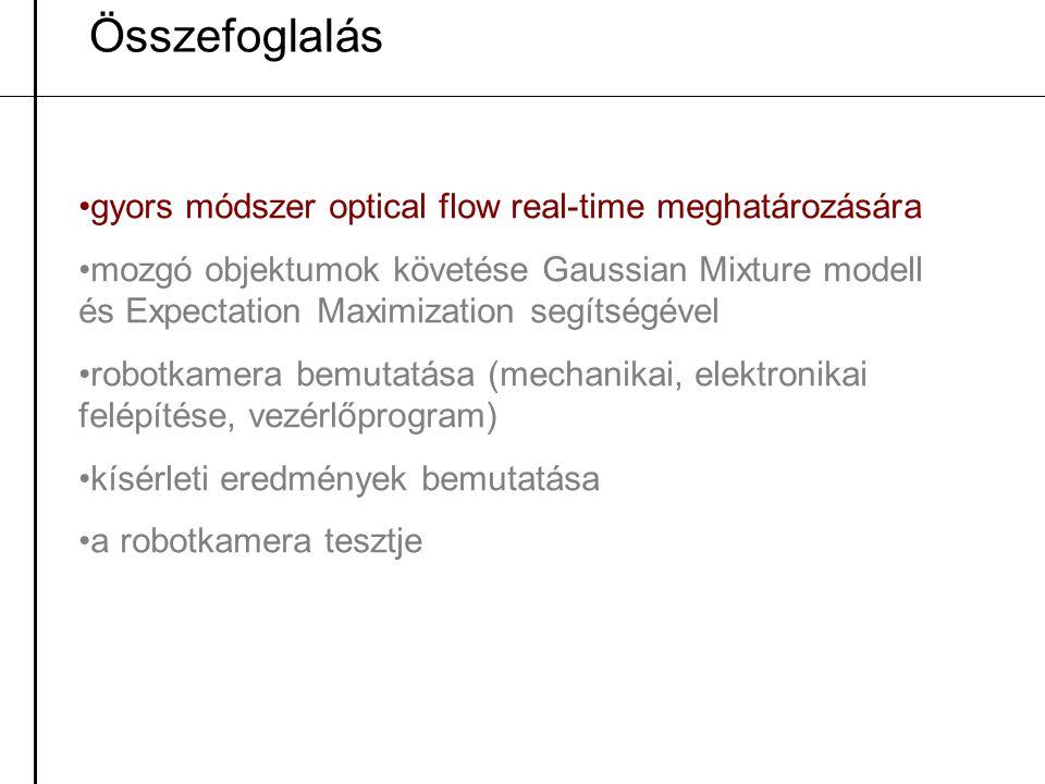 Összefoglalás gyors módszer optical flow real-time meghatározására