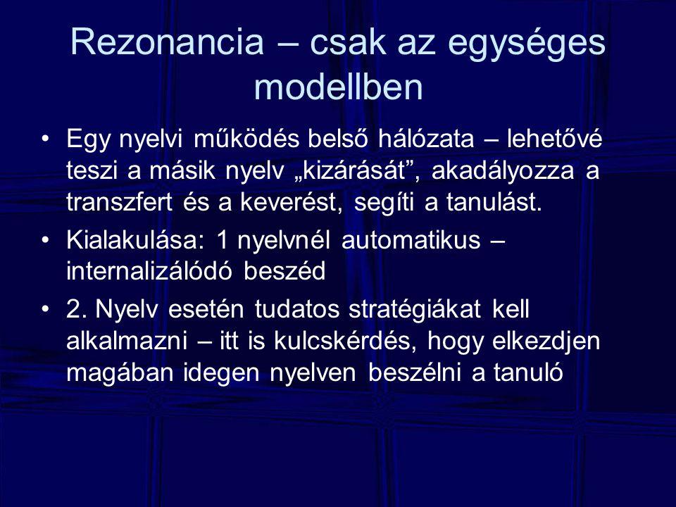 Rezonancia – csak az egységes modellben