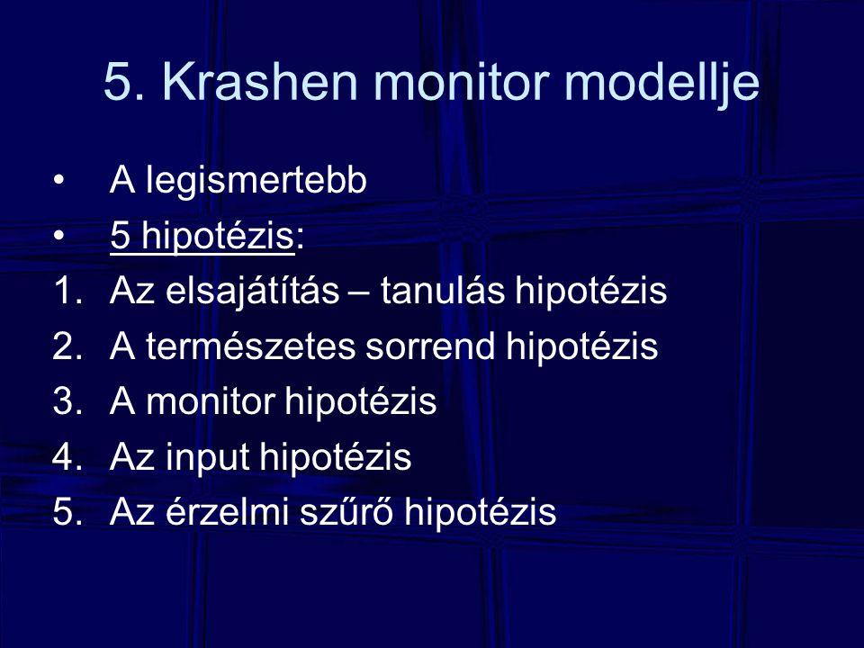 5. Krashen monitor modellje