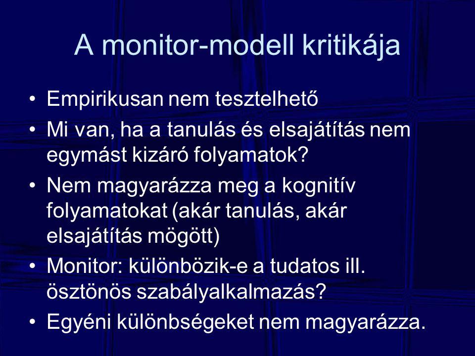 A monitor-modell kritikája