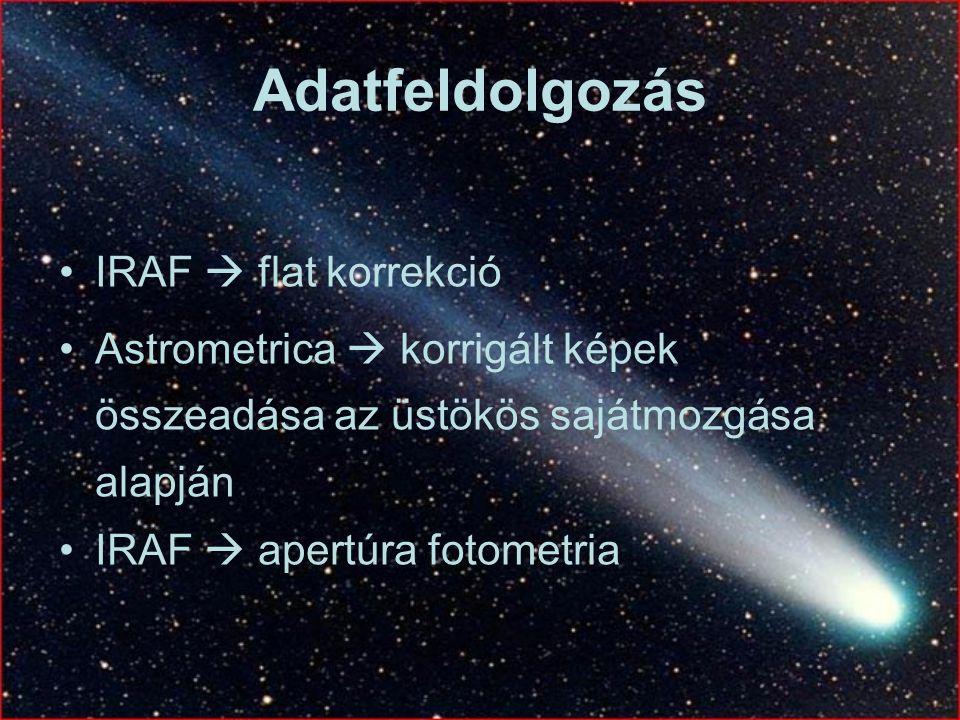 Adatfeldolgozás IRAF  flat korrekció