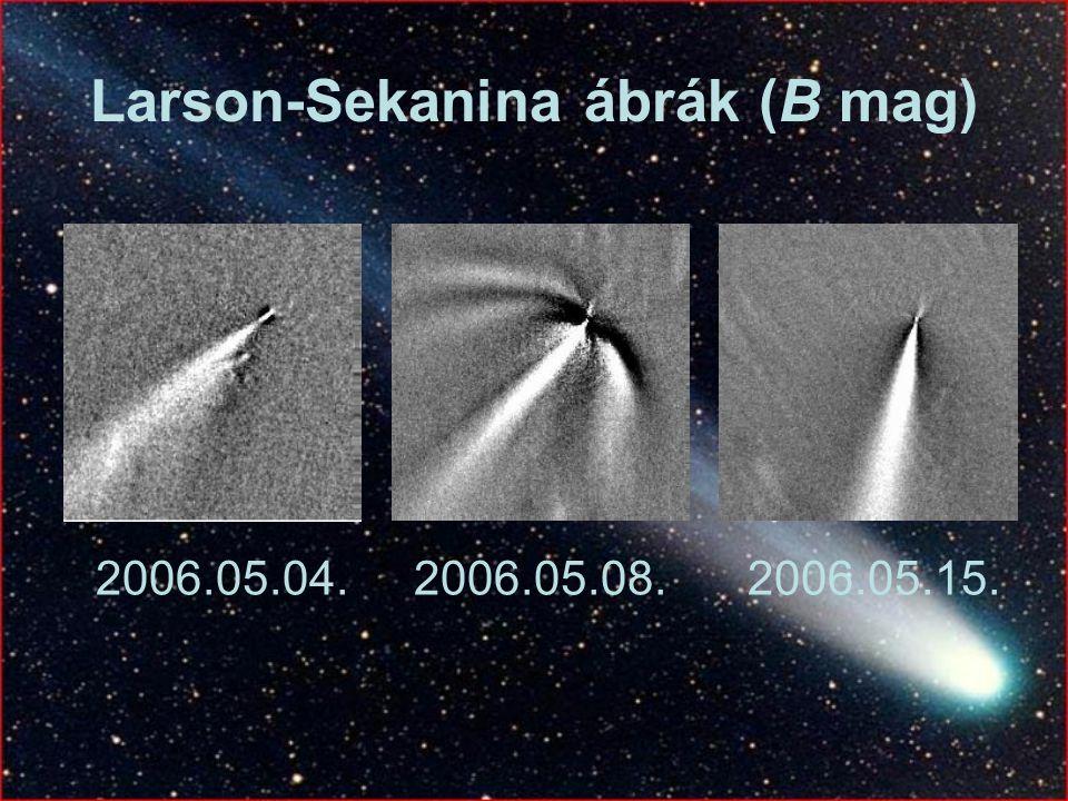 Larson-Sekanina ábrák (B mag)