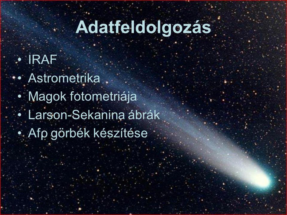 Adatfeldolgozás IRAF Astrometrika Magok fotometriája