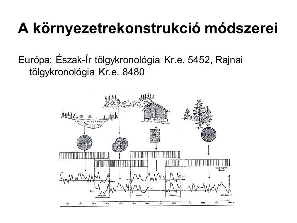 A környezetrekonstrukció módszerei