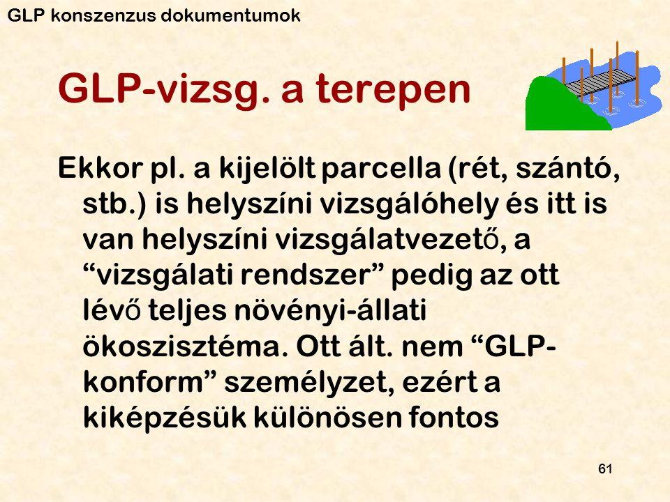 GLP konszenzus dokumentumok