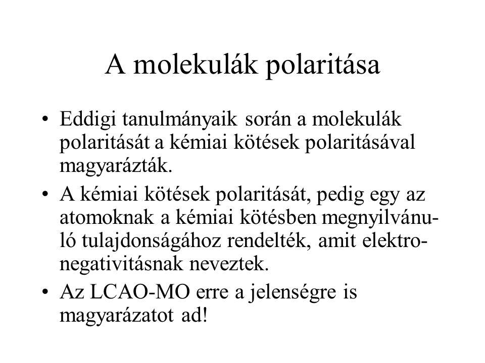 A molekulák polaritása